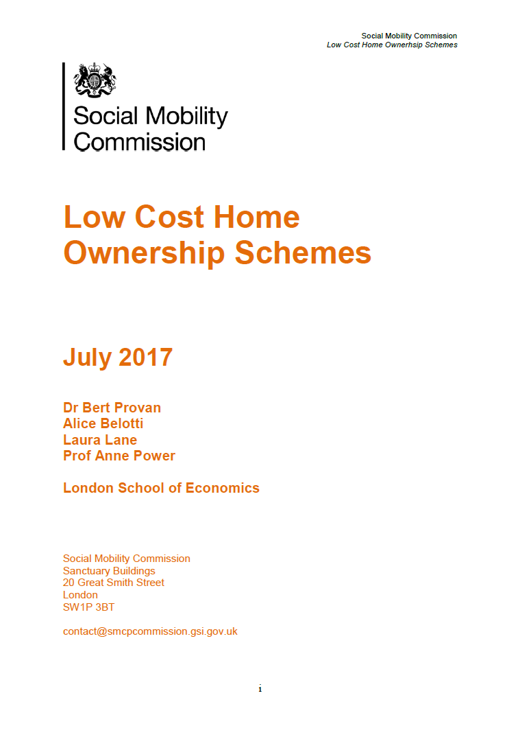 Low Cost Home Ownership Schemes