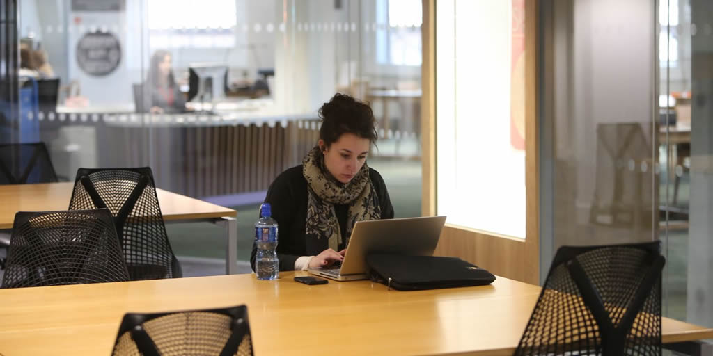 Photo: Student in Library Reading Room - from LSE Bynder