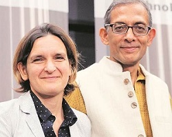 Esther Duflo and Abhijit Banerjee