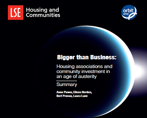 LSE Housing and Communities launch report for Orbit Bigger Than Business